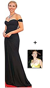 Fan Pack - Scarlett Johansson Grand Silhouette En Carton Standee / Stand-Up - Avec Star Photo (Dimensions 25x20 Cm)