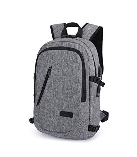 eastar Sac à dos anti-volavec combinaison et port de chargeur USB et port de casque, sac à dos résistant à l'eau pour l'école, collège, affaires, sac de voyage s'adapte 15,6 pouces ordinateur portabl