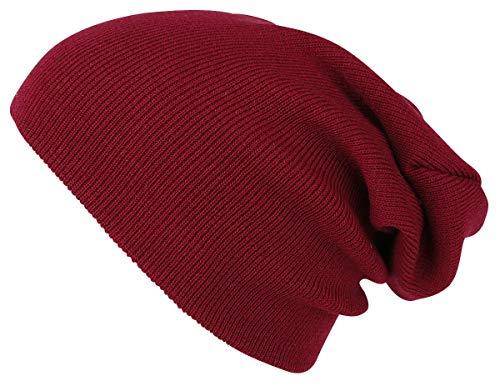 Beanie Basic Flap Long Version Bonnet Marron
