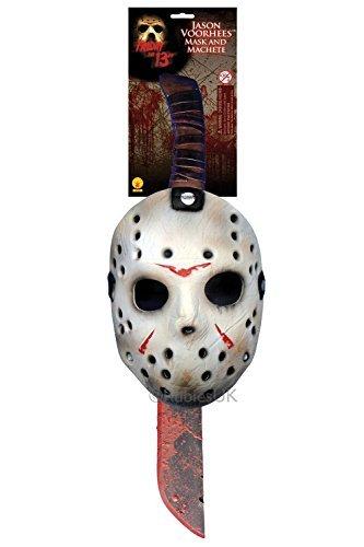 Schocker Kostüm Für Erwachsenen Der - Jason Machete & Hockey Maske