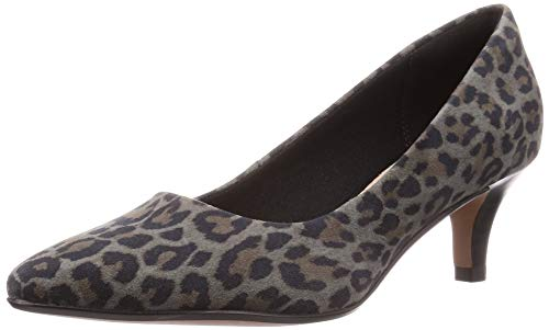 Clarks Linvale Jerica, Scarpe col Tacco Punta Chiusa Donna, Multicolore Leopard PRT Comb, 42 EU