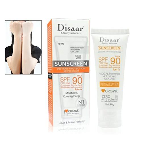 Mimiga Sonnenschutz Creme UV-beständig Sunblocker Hautpflege Wasserdicht Feuchtigkeitsspendende SPF 50+ 40g