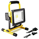 Hirosa 30W 2400LM Portable Rechargeable Cordless LED Work Light FloodLight IP65 Waterproof Emergency