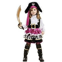 Disfraz de pirata pequeña para niña, (5-6 años)