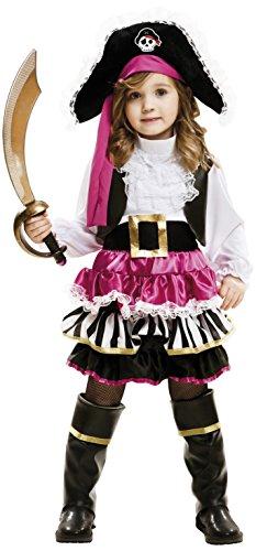 Imagen de my other me  disfraz de pequeña pirata para niña, 3 4 años viving costumes 202007