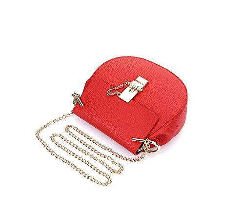 Keral Frauen Lässig Elegant PU Leder Rein Farbe Crossbody Taschen Rot Klein