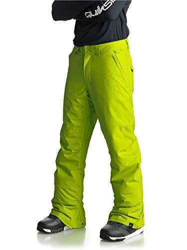 Quiksilver Estate, Snow Pant Uomo, Lime Green, M