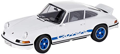 Norev Porsche 911 RS 1973-White & Blue Deco - Vehículo en Miniatura (200 Piezas), Color Blanco