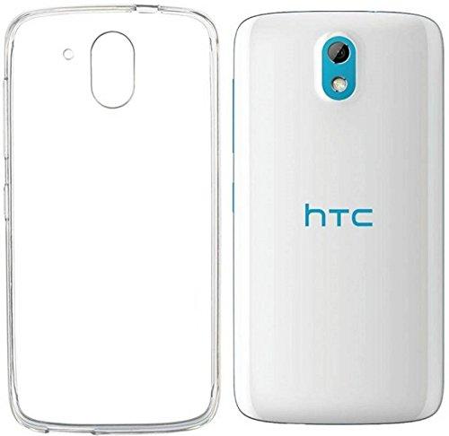Thinkzy Premium Transparent Soft Silicone Back Cover for HTC Desire 526G Plus (Transparent)