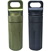 Healifty Pillenbox Schlüsselanhänger Medikament Halter für Reise 2 Stück (Schwarz und Army Green) preisvergleich bei billige-tabletten.eu