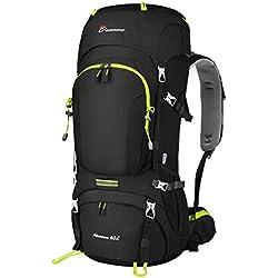 MOUNTAINTOP 60L Zaino Trekking Impermeabile Escursionismo Montagna Campeggio Alpinismo Viaggio 76 x 36 x 26 cm/81 x32 x23cm