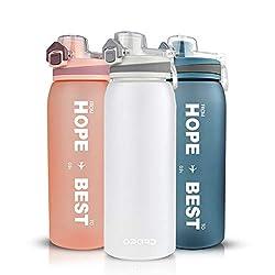 Opard Trinkflasche Sport 900ml -Wasserflasche aus Tritan BPA-Frei, Auslaufsicher Sportflasche für Kinder, Sport, Fitness, Fahrrad, Fußball, Outdoor (Weiß)