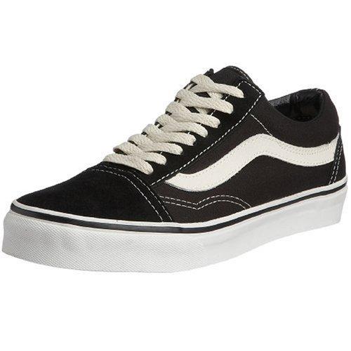 Vans Unisex-Erwachsene Old Skool Sneaker Schwarz/Weiß