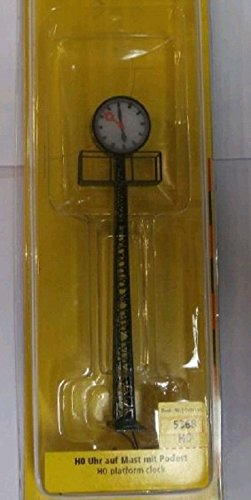 Brawa 5368 Uhr auf Mast mit Podest (Uhr Podest)