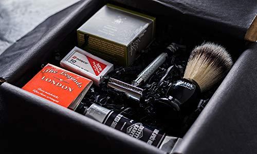 Rasurmanufaktur Luxus Herren Rasierset Geschenkset Rasierhobel, Pinsel, Klingen, Seife, Aftershave
