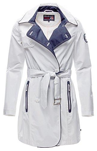 Marinepool Damen Norma Trench Coat Women Jacke, White, M