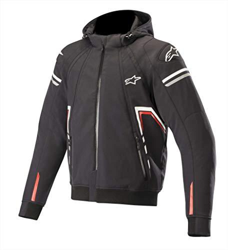 Alpinestars Motorradjacken Sektor Tech Hoodie Black White Red, Schwarz/Weiss/Rot, M