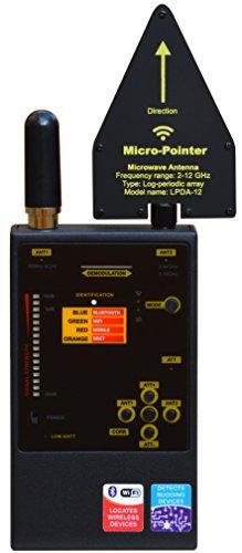 Protect 1206i Detector de frecuencias portatil GSM, WIFI, LTE, 3G, 4G, Bluetooth, WI MAX. Localiza cámaras y micrófonos espias