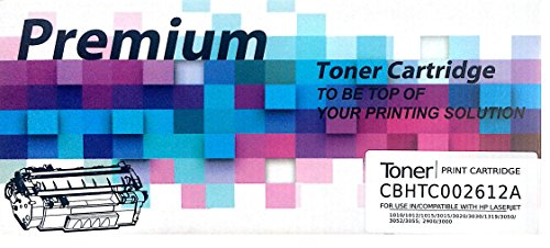 Premium 12A Compatible Toner Cartridge FOR HP LaserJet - 1010, 1012, 1015, 1018, 1020, 1022, 1022n, 3020, 3030, 3050, 3052, 3055, M1005, M1319f (Black) (Q2612A)  available at amazon for Rs.639