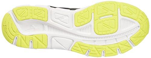 Mizuno Synchro Sl, chaussures de course homme Multicolore (Black/White/SafetyYellow)