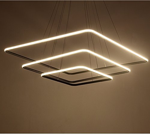 Saint Mossi Regulable Exclusive Design Modern Square Led Chandelier Colgante ajustable Tania...