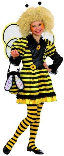 Widmann 73127 - Kinderkostüm Biene, Kleid, Flügel und Kopfschmuck, Gröߟe 140 (Honey Bee Flügel Kostüm)