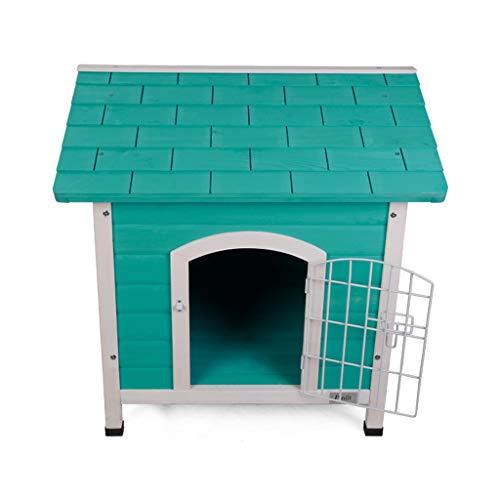 AIAIⓇ Caseta Interior Perros Puerta Hierro, Refugio