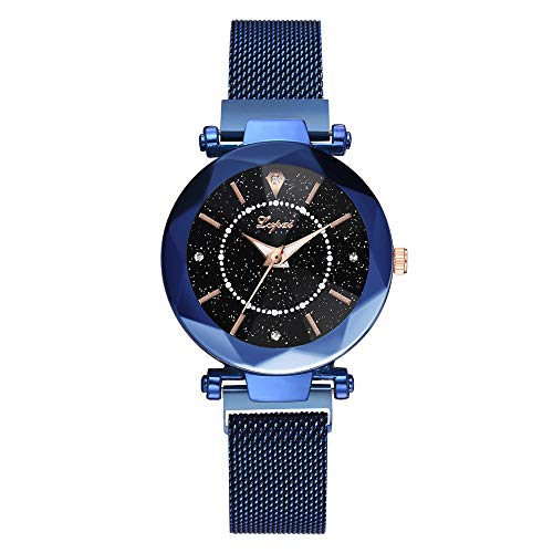 BEARCOLO - Casual Analog Quartz Watch with Waterproof Star Dial and Magnetic Buckle Strap for Women