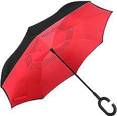 ShoppoZone Polyester UV Protected Multicolour Double Layer Reverse Umbrella
