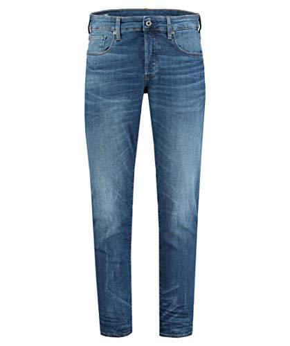 G STAR RAW 3301 Straight Tapered Jeans Uomo Blu 38W / 34L