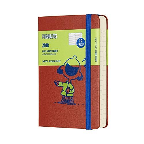 Moleskine Agenda Giornaliera Peanuts, 12 Mesi, Tascabile, Arancione Corallo