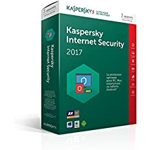 Kaspersky Internet Security 2017 (3 postes, 1 an)