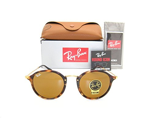 Ray-Ban Round RB 2447 1160 49mm Spotted Brown Havana Frame / Brown Lens