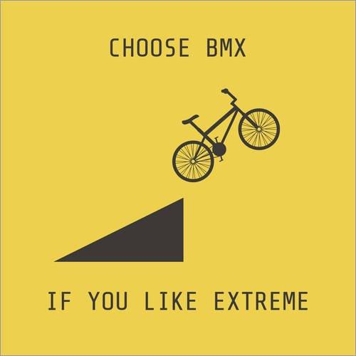 Poster 100 x 100 cm: BMX für Extremsportler von Kidz Collection/Editors Choice - hochwertiger Kunstdruck, Kunstposter