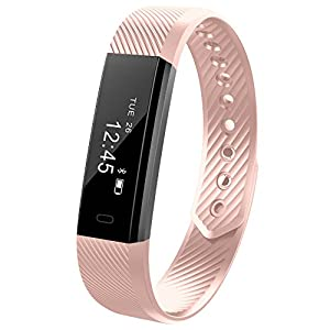 Fitness armband Smarter® YG3 Activity Tracker Armband HR Schrittzähler Kabellose Bluetooth 4.0 Schritte Entfernung Sleep Kalorien ausgeschnittenem Touch Bildschirm Call Nachricht Reminder für Android und IOS (Rosa)