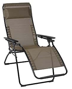 Lafuma Relax-Liegestuhl, klappbar und verstellbar, Futura, Bronze, LFM3052-6896