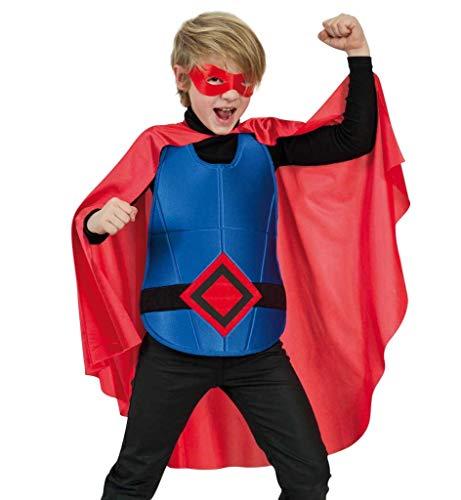 KarnevalsTeufel Kinderkostüm Superhero Umhang Brustpanzer Maske Superheld Rot - Kinder Kostüme Splinter