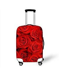 Dbtxwd Funda protectora de la maleta Flores 3D Resistencia al desgaste Alta fuerza elástica No se desvanecen Resistente a los arañazos A prueba de polvo Funda de equipaje de viaje de moda 18-28 pulgadas , 5 , s