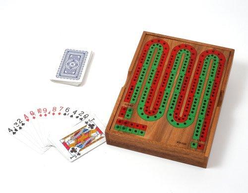 Preisvergleich Produktbild Cribbage Brett Zählbrett aus Holz Kartenspiel Noddy