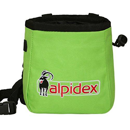 Sacchetto porta magnesite con inclusa la cintura HIMALAYA di Alpidex, Colore:Green Flash