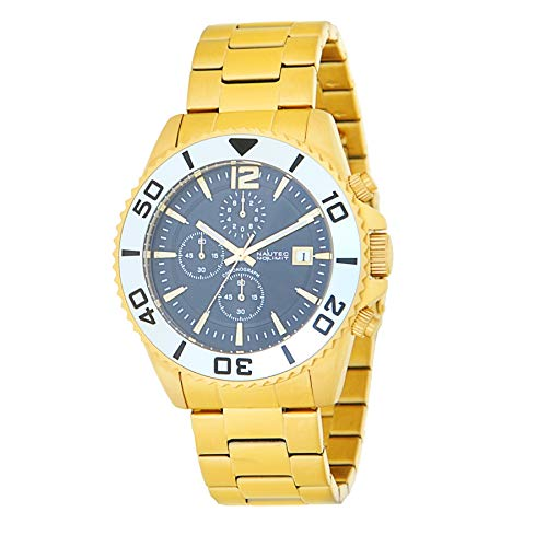 Nautec No Limit Mens Chronograph Quartz Watch with Gold Plated Strap Taco-QZ GD-BK