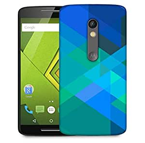 Snoogg Stripes Forming Rhombuses 2796 Designer Protective Phone Back Case Cover For Motorola Moto X Play