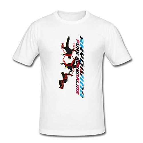 Spreadshirt Skydiving Fallschirmspringen Männer Slim Fit T-Shirt, L, Weiß
