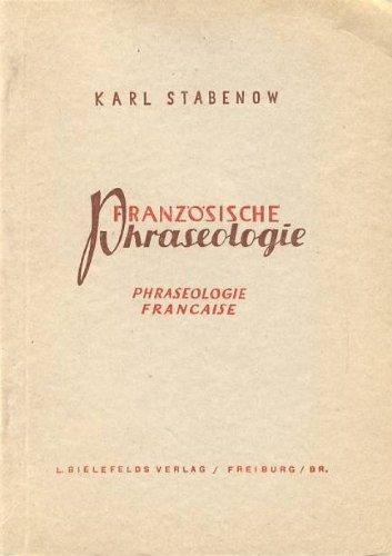 Französische Phraseologie.