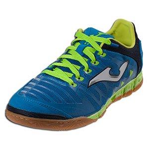 Super Regate Microfibre - Chaussures de Foot en Salle - Bleu/Citron Vert blue