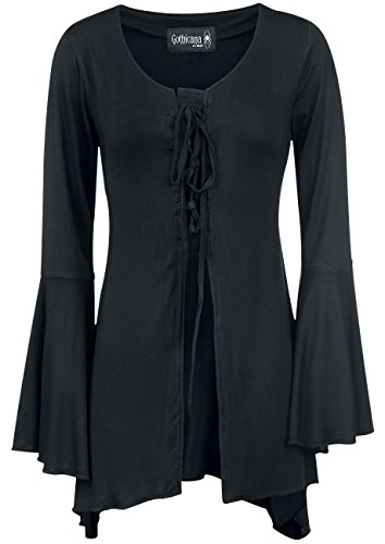 Gothicana by EMP Medieval Princess Cardigan donna nero S