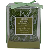 """Scrafts 3"""" Round Spring Flowers Highly Fragranced/Scented Exotic Aroma Natural Wax Votive Glass Candle For Home Décor/Gifts/Spa/Meditation."""