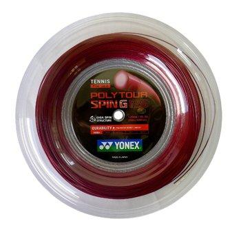 Yonex Poly Tour Spin G 200m dunkelred String Reel-Rot, 1,25mm