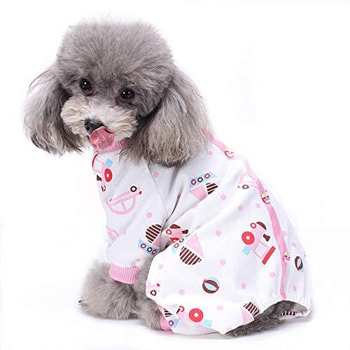 TUOTANG Ropa para Mascotas Ropa para Perros Pijama de Algodón de Cuatro...