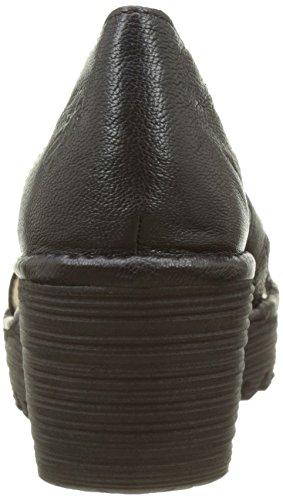 Fly London P500718005, Sandali con zeppa Donna Nero (black 000)